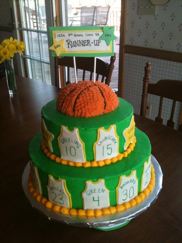 Three Tier Basketball Cake